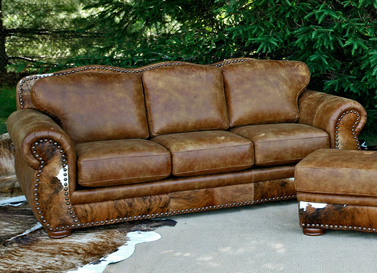 Legend Stallone Sofa with Brindle Hide