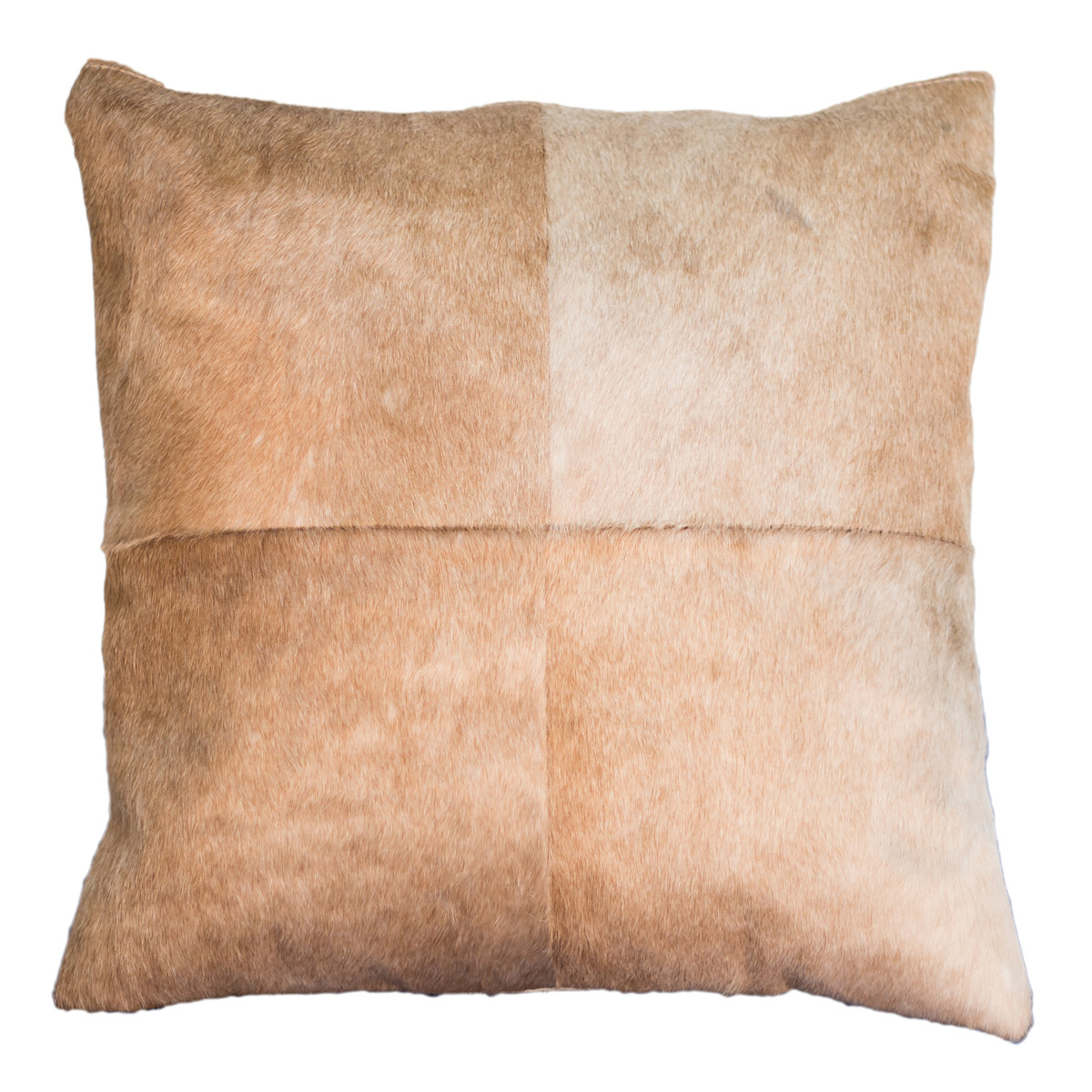 Light Brown Cowhide Pillow