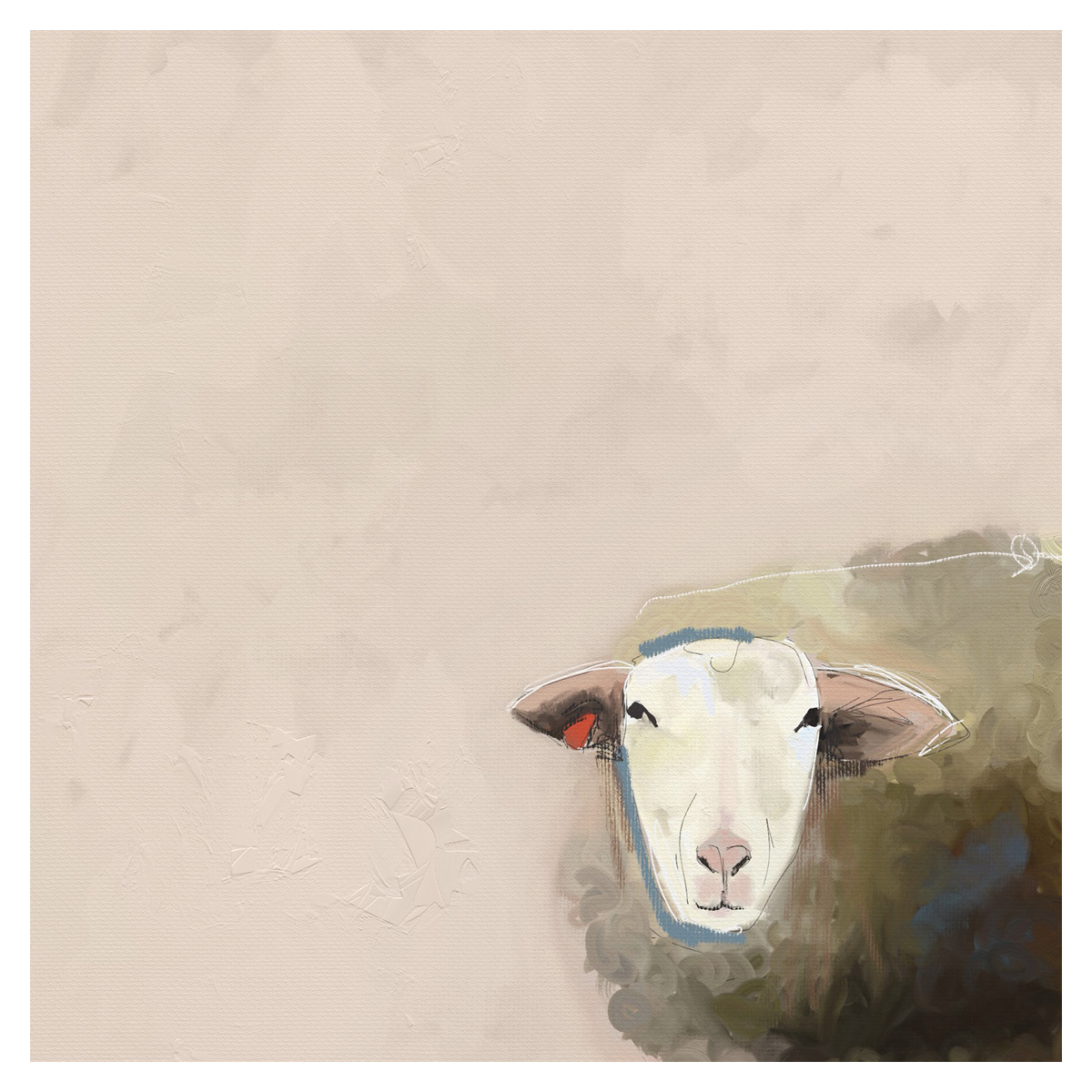 Little Lamb Canvas Art