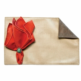 Lizardo Dune Placemats with Suave Olive Back - Set of 4