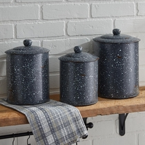 Lodge Gray Canisters - Set of 3