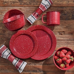 Lodge Red Dinnerware Collection