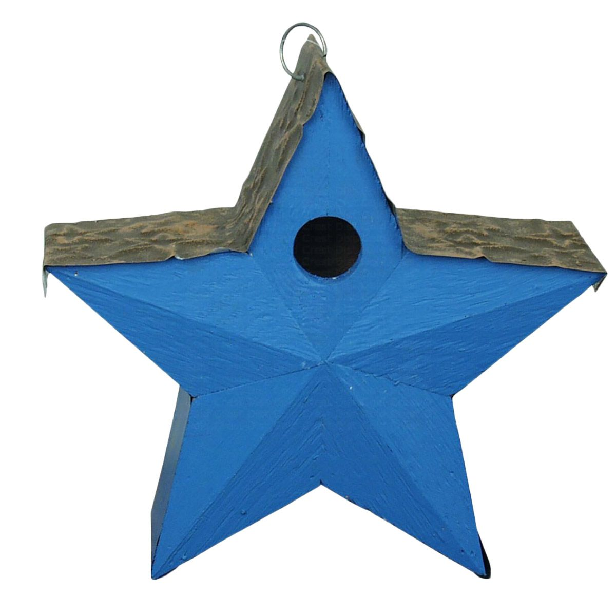 Lone Star Birdhouse - Blue