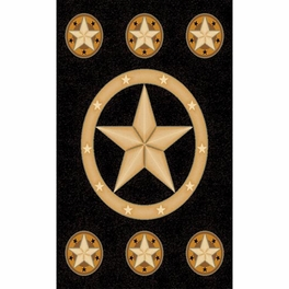 Lone Star Black Rug Collection