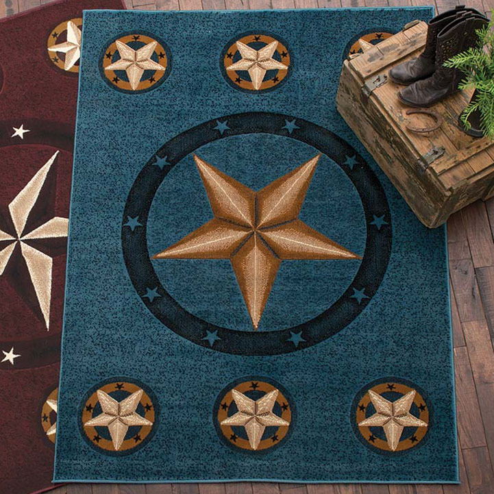 Lone Star Blue Rug - 7 Ft. Round
