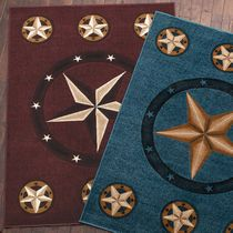 Lone Star Burgundy Rug - 7 Ft. Round