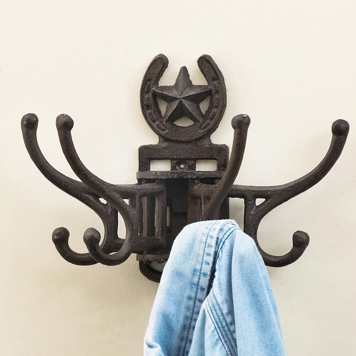 Lone Star Cast Iron Coat Hanger