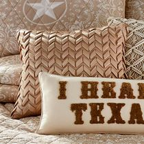Lone Star Chevron Pillow