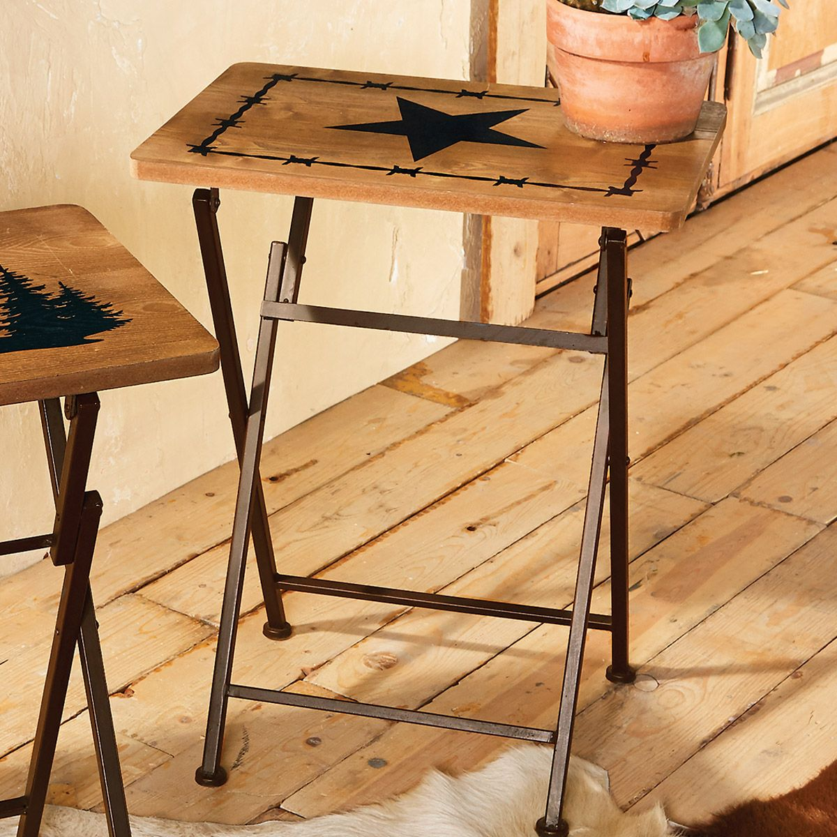 Lone Star Folding Side/Tray Table