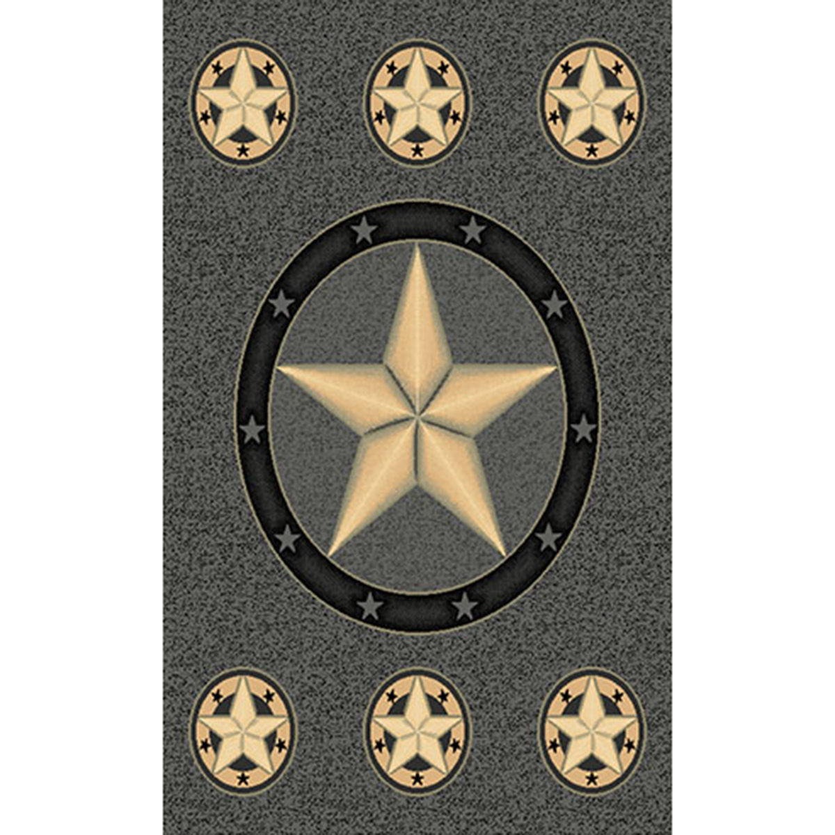 Lone Star Gray Rug - 5 Ft. Round