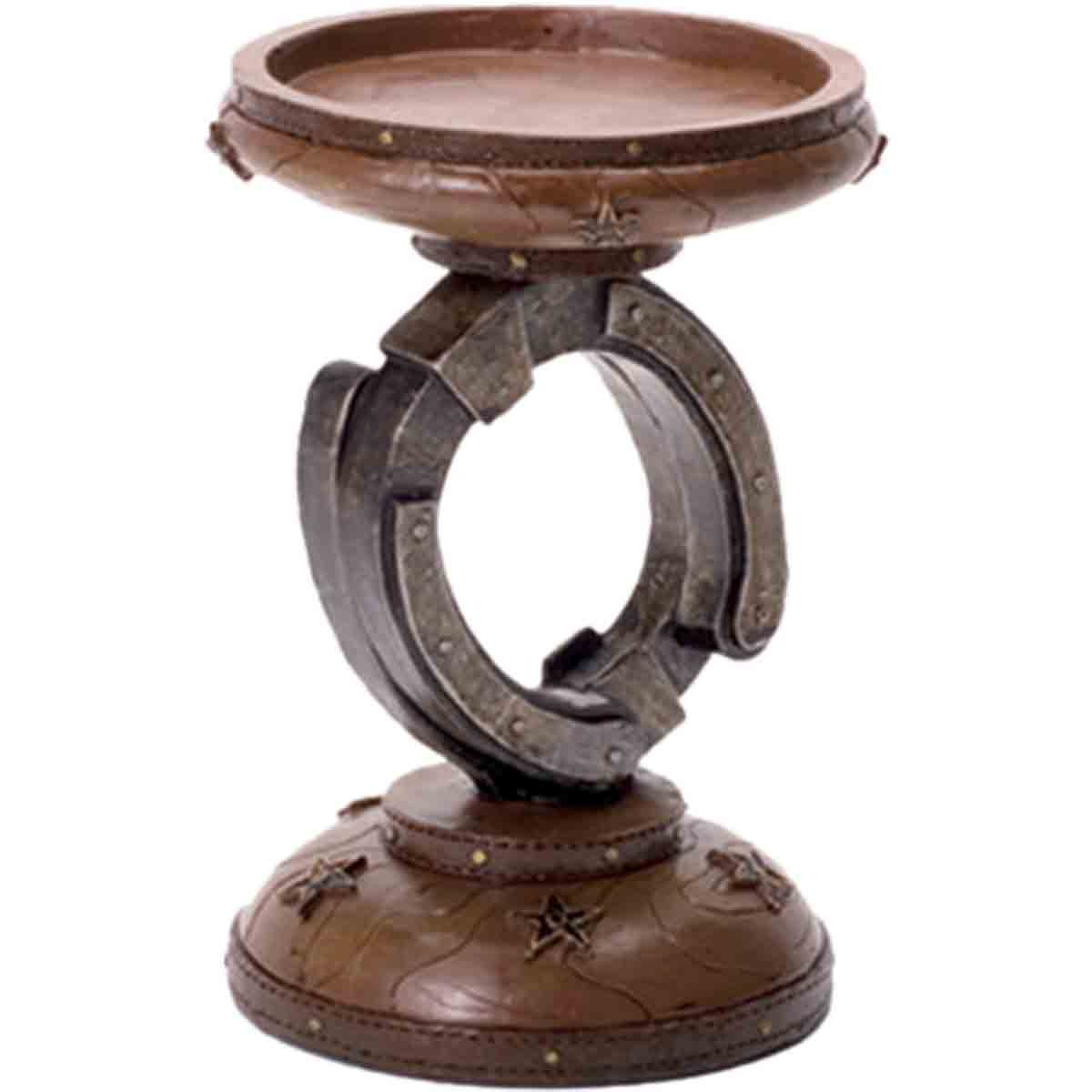 Lone Star Horseshoe Candle Holder