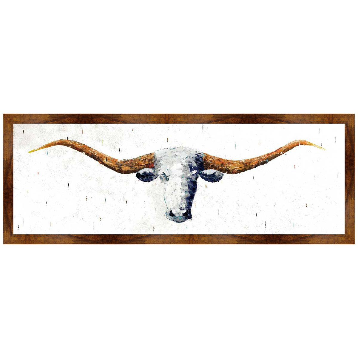 Lone Star Longhorn Canvas Art