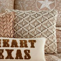 Lone Star Macrame Pillow