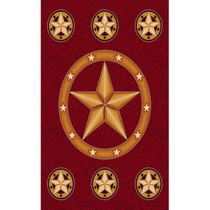 Lone Star Red Rug - 2 x 3