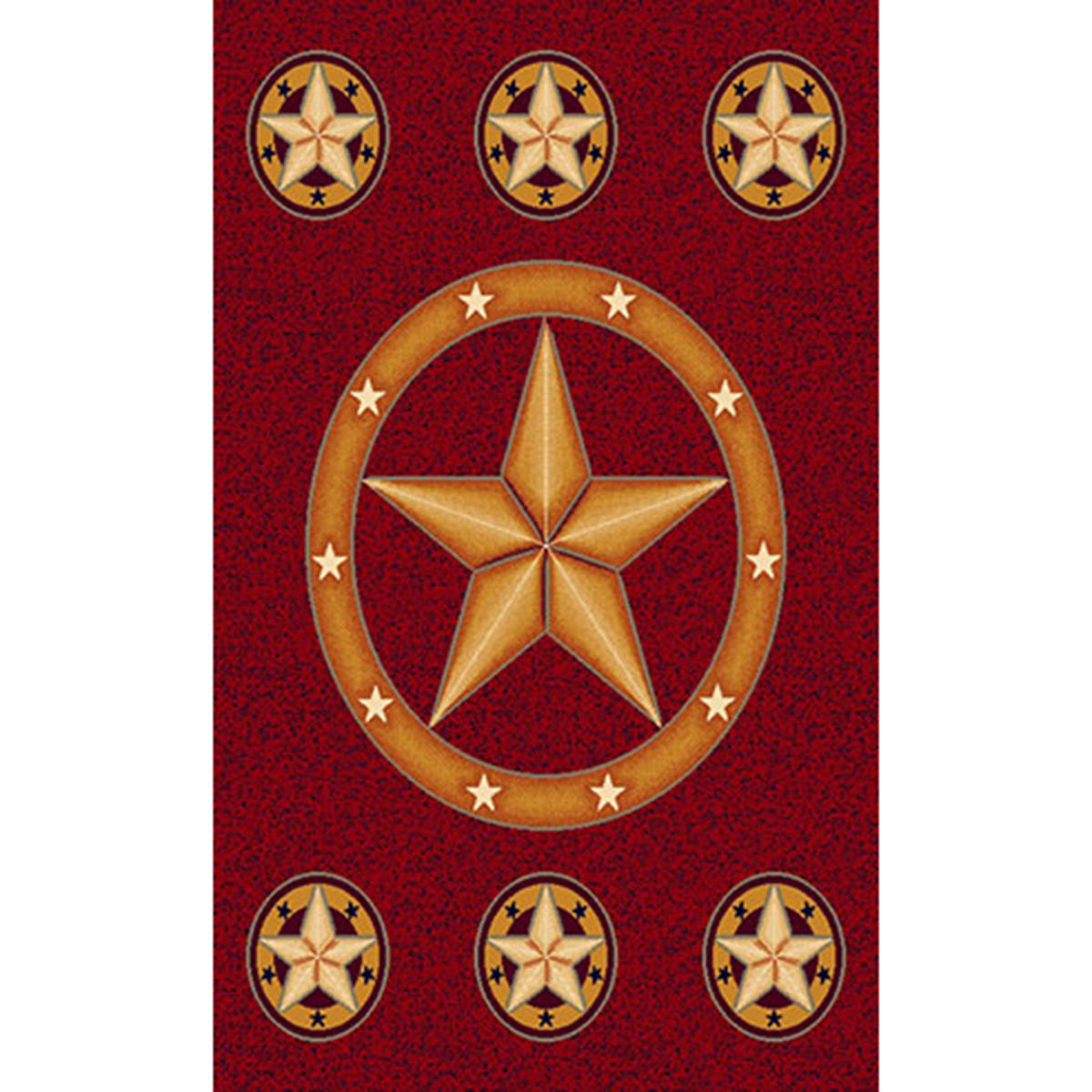 Lone Star Red Rug - 5 x 8