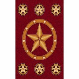 Lone Star Red Rug Collection