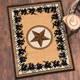 Lone Star Riders Berber Rug Collection