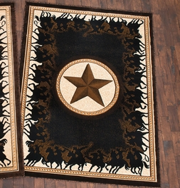 Lone Star Riders Black Rug Collection