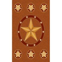 Lone Star Rust Rug - 5 Ft. Round