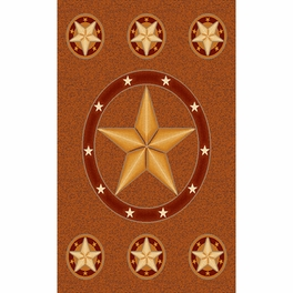 Lone Star Rust Rug Collection