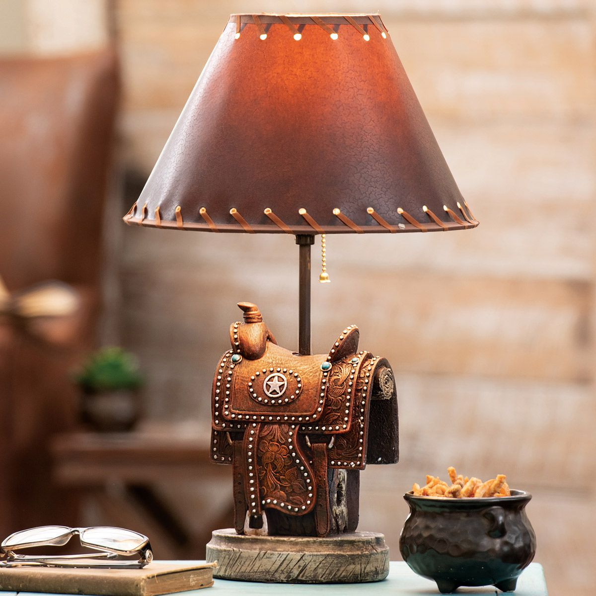 Lone Star Saddle Table Lamp