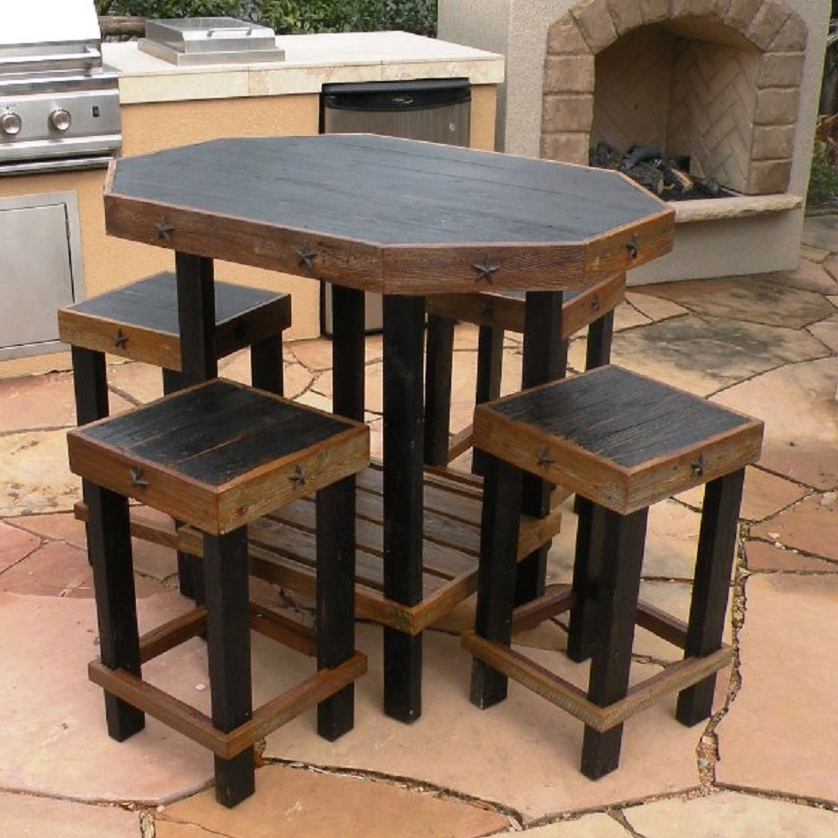 Lonestar Patio Set - Black