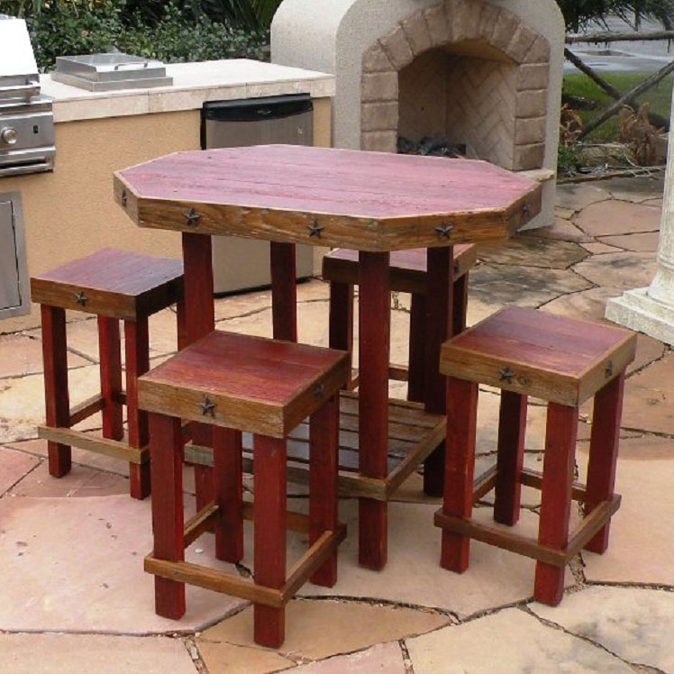 Lonestar Patio Set - Red