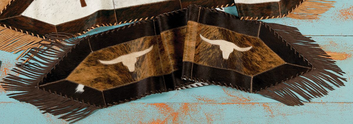Longhorn Cowhide Table Runner