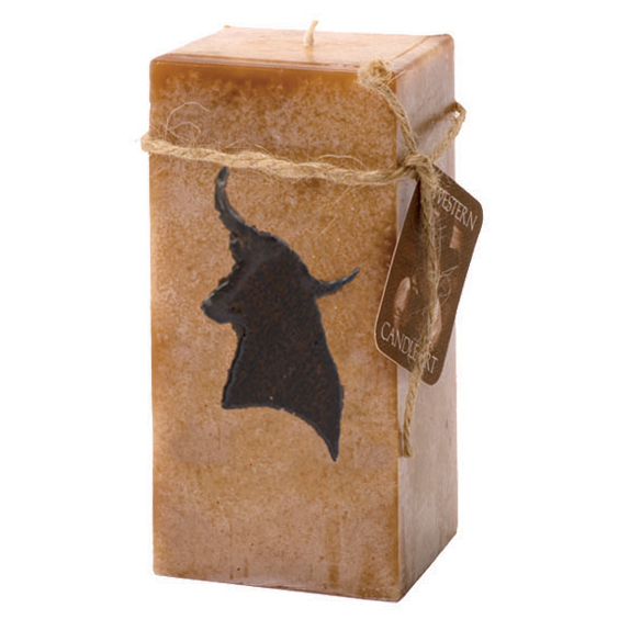 Longhorn Embedded Pillar Candle