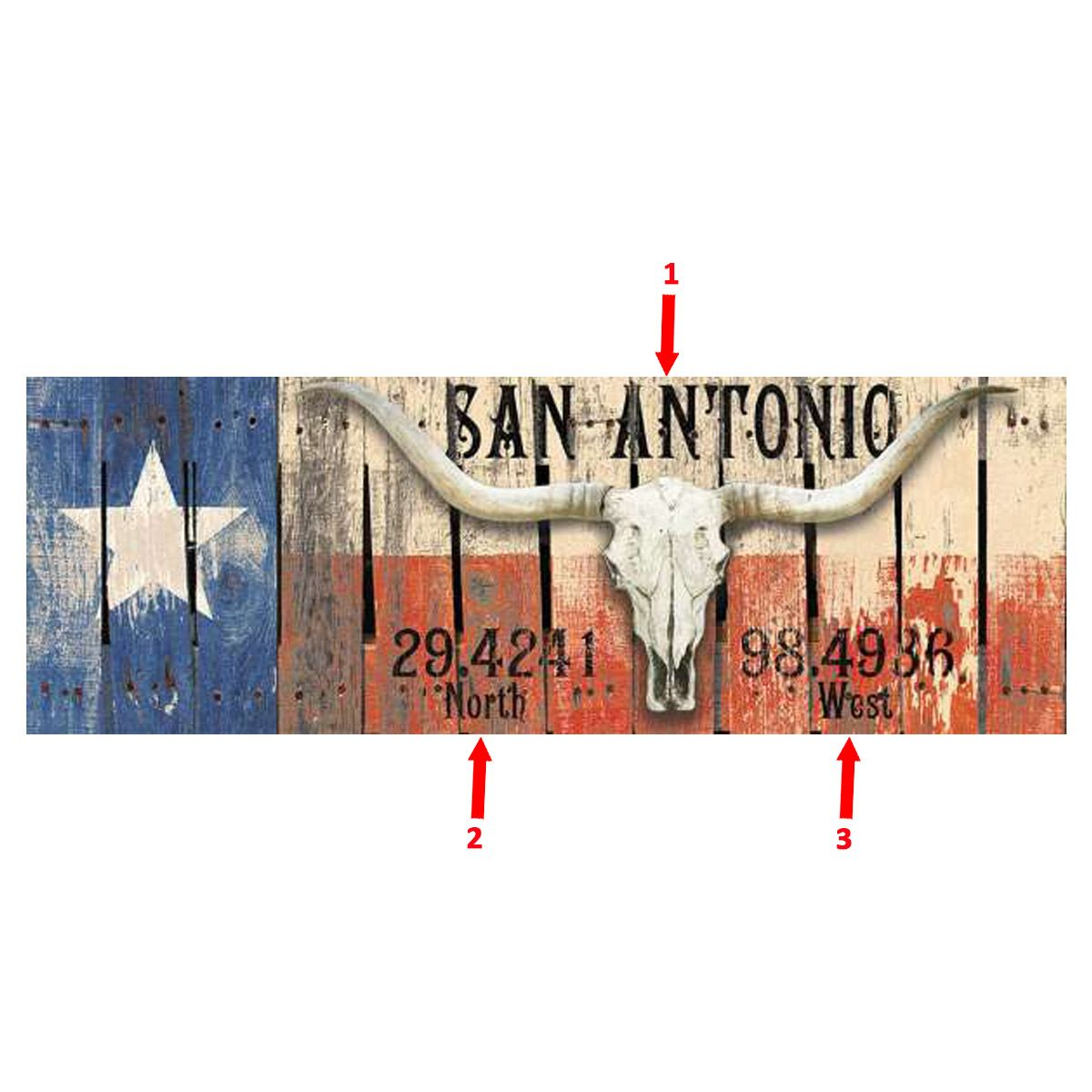 Longhorn Flag Personalized Sign