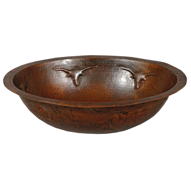Longhorn Oval Copper Sink
