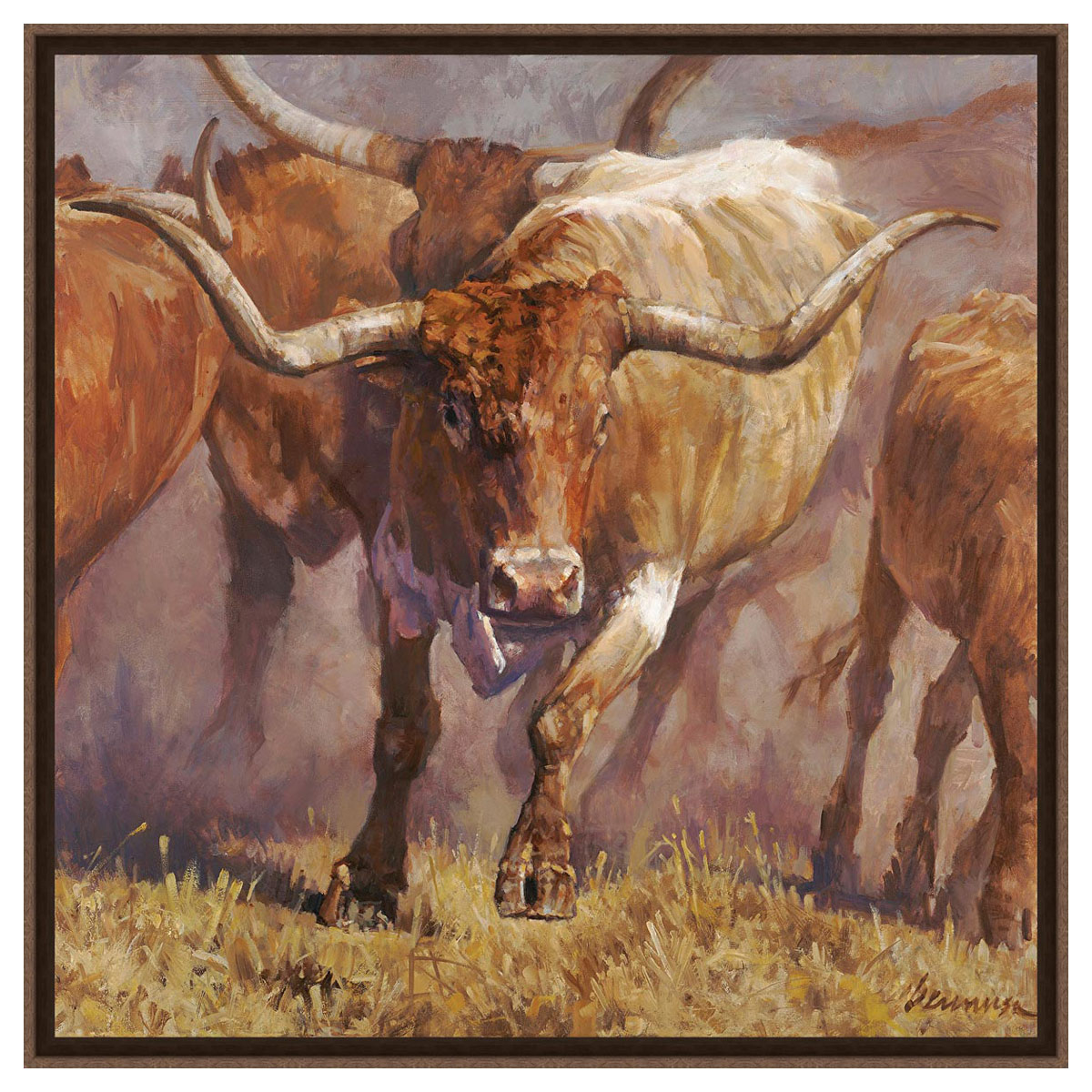Longhorn Pride Framed Canvas