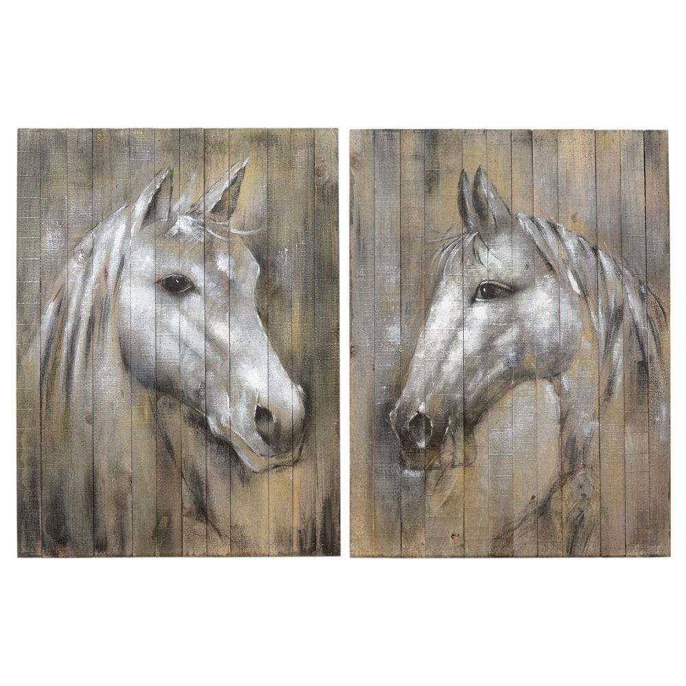 Ghost of the West Horse Wall Art (Set of 2)