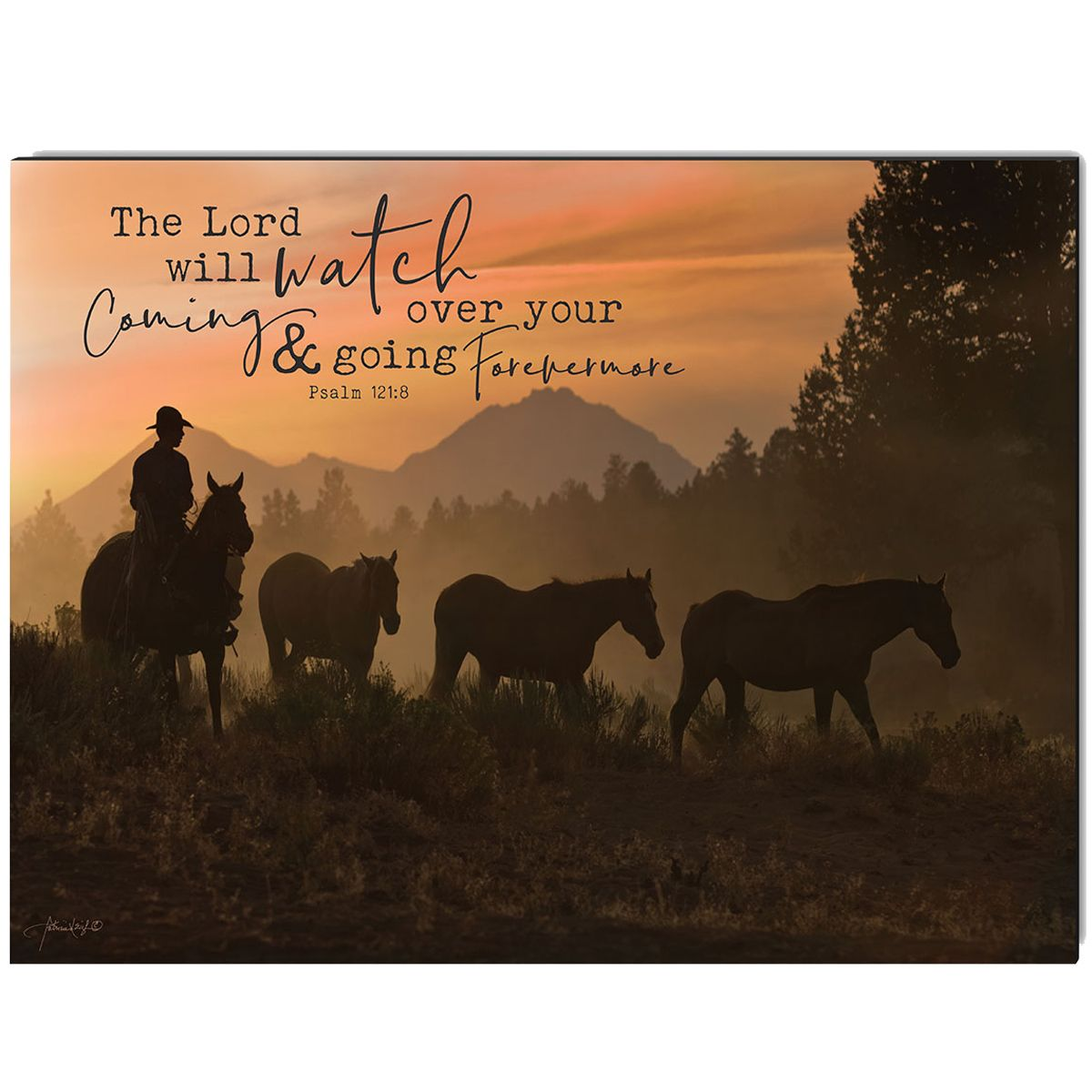 Lord Will Watch Over Wrapped Canvas Art