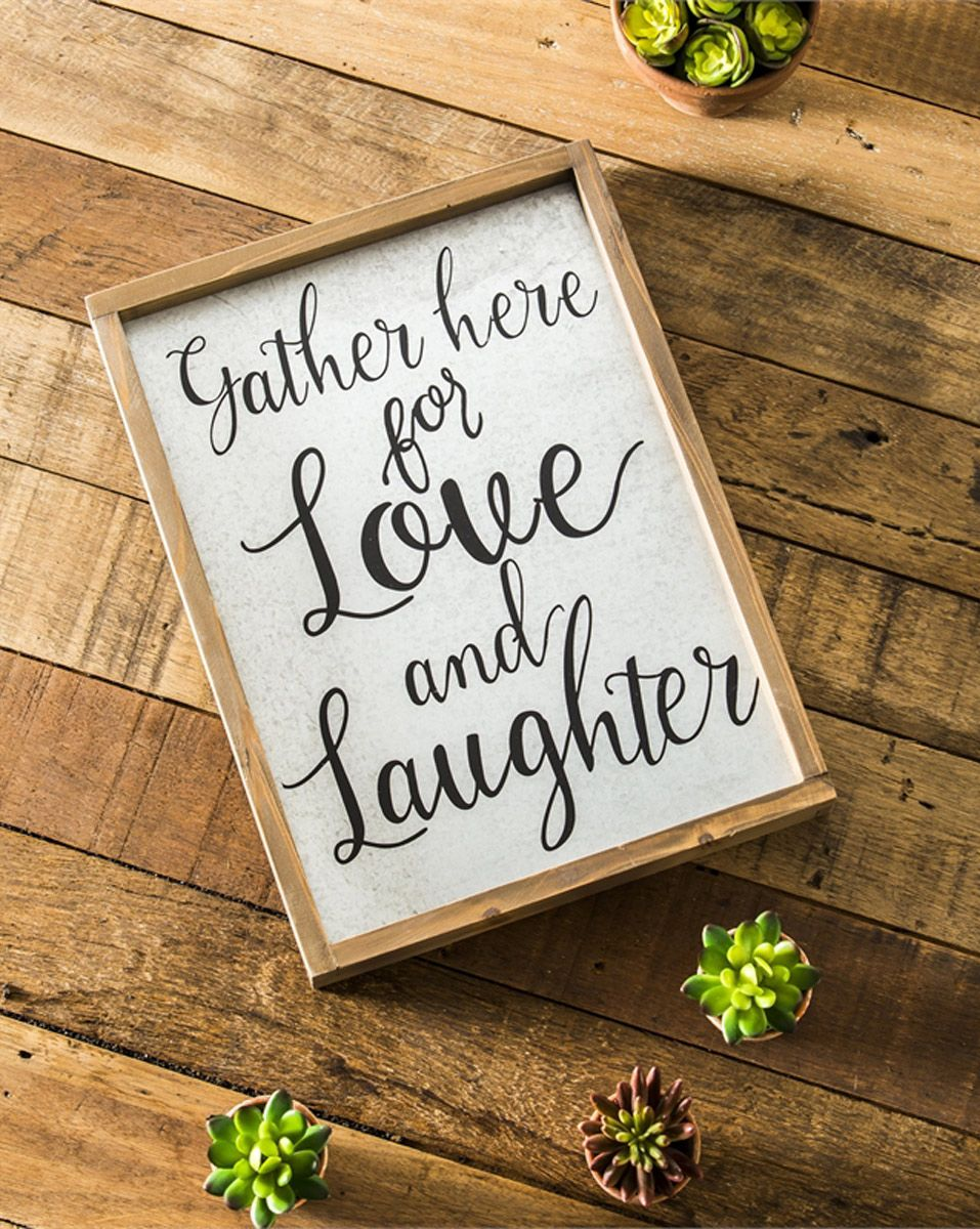 Love & Laughter Wall Décor