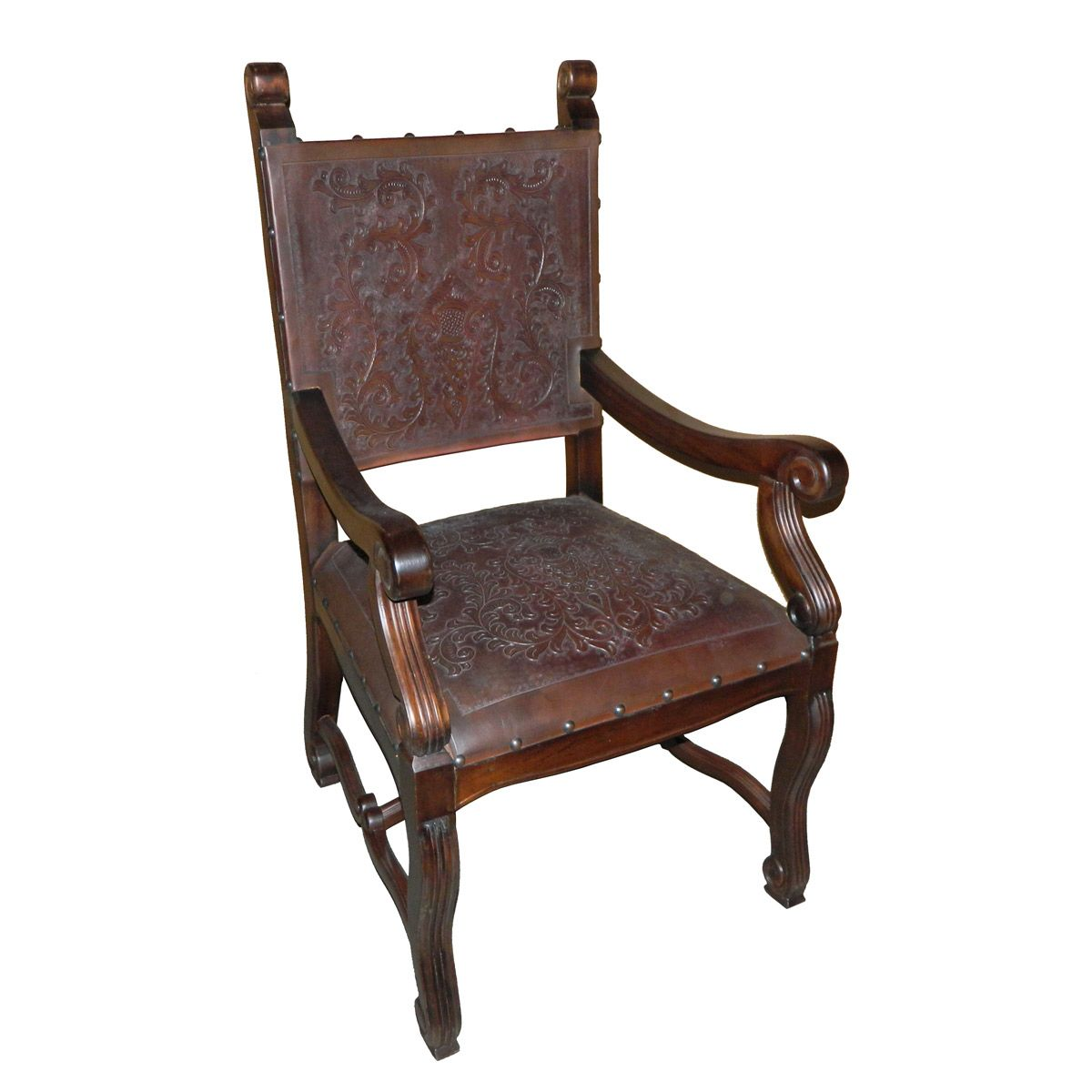 Lucia Tooled Leather Chair