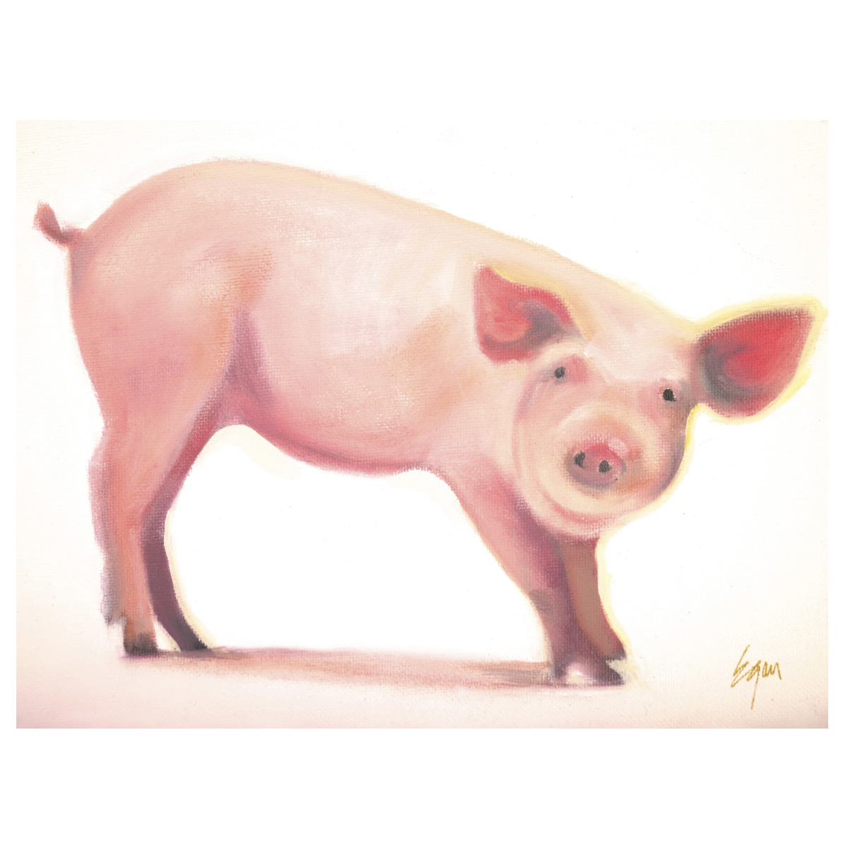 Mable the Pig Canvas Art