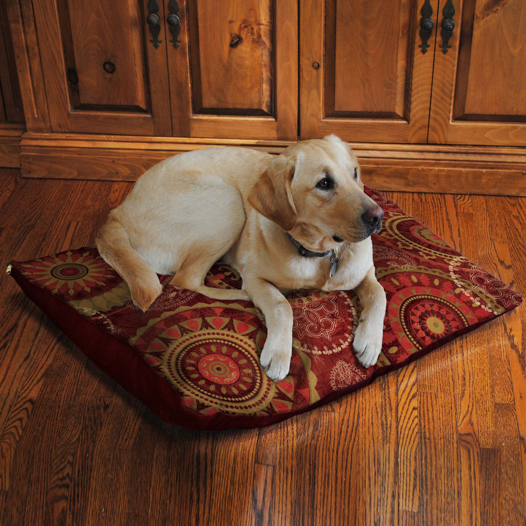 Mandala Fleece Dog Bed