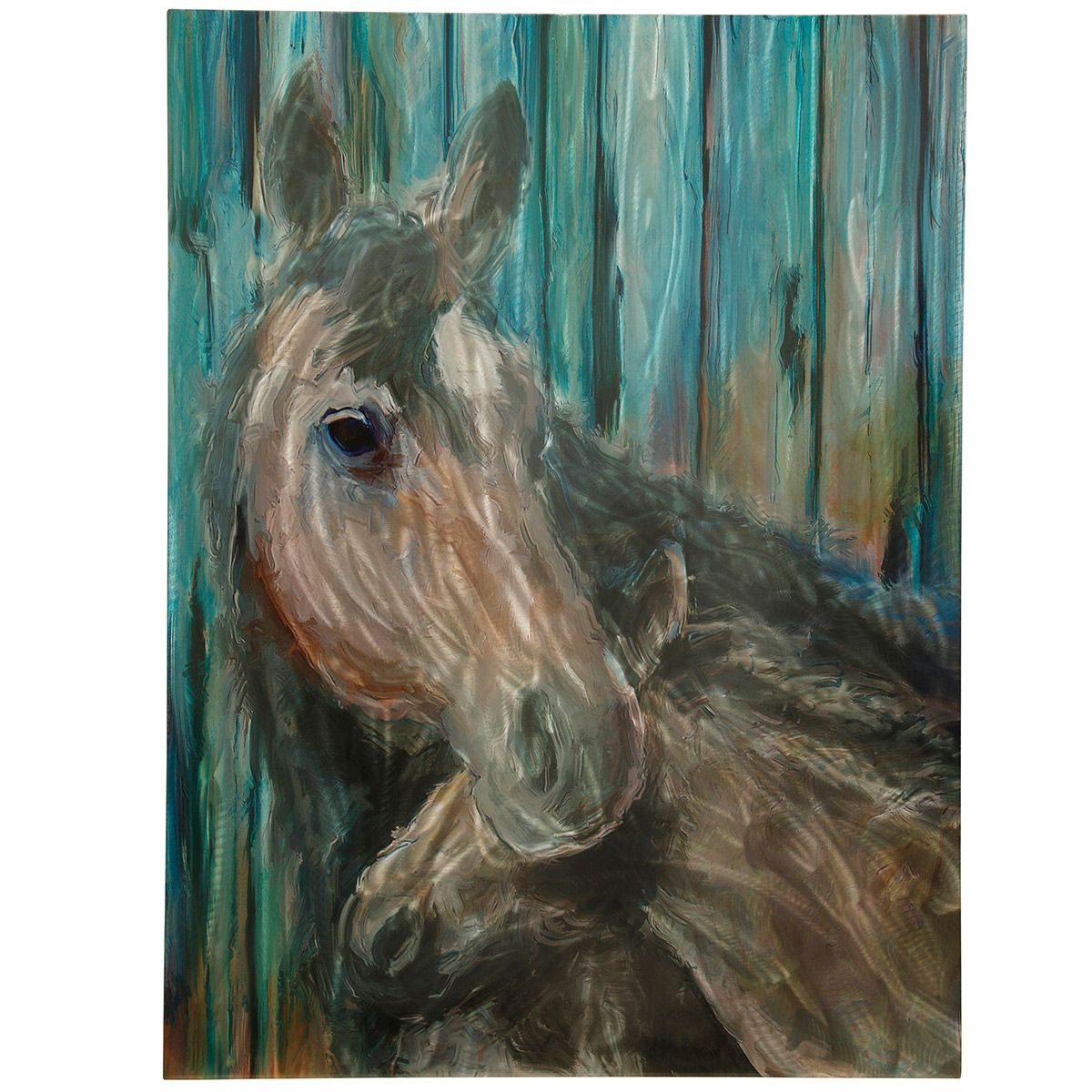Mare and Foal Aluminum Wall Art