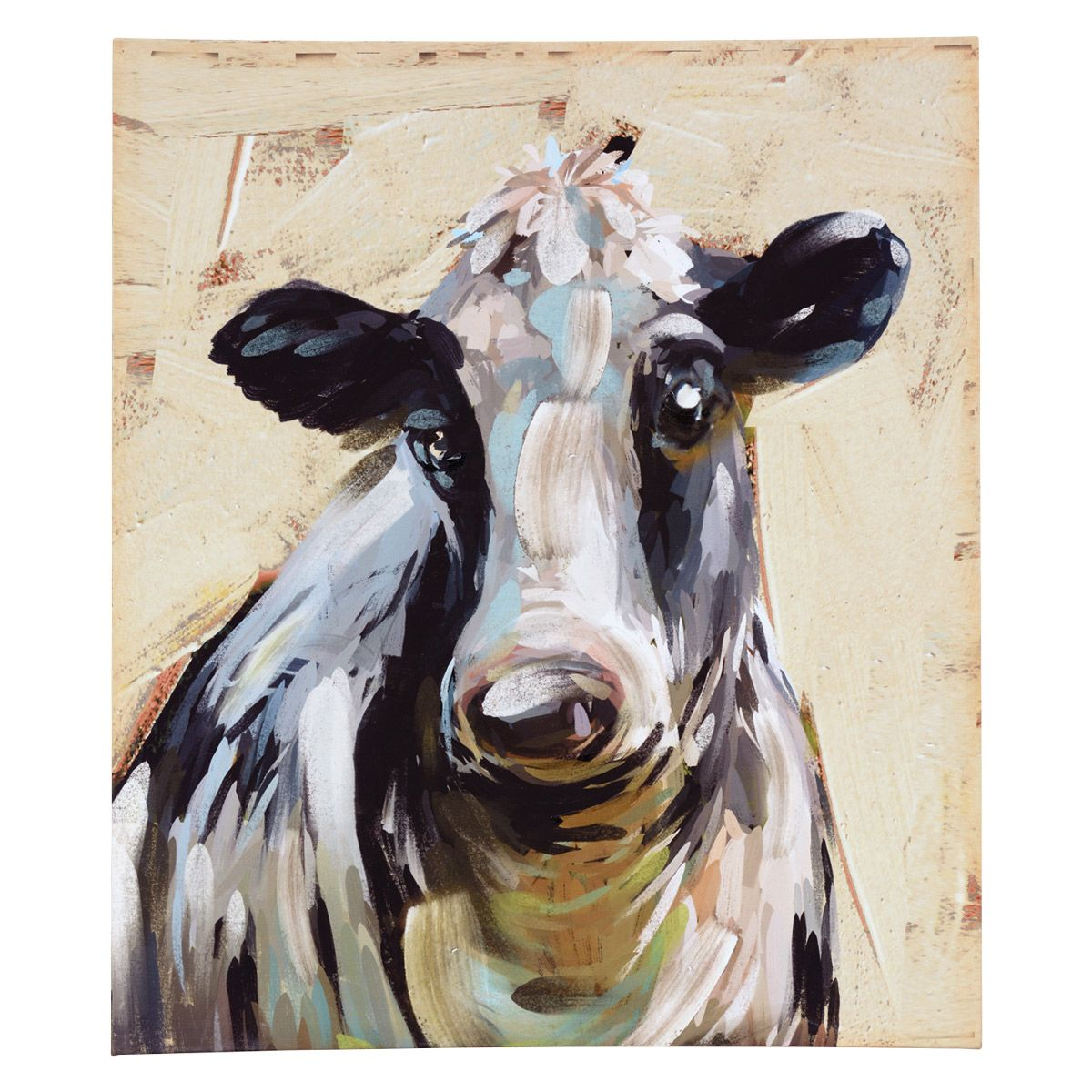 Meadow Cow Canvas Wall Art - CLEARANCE