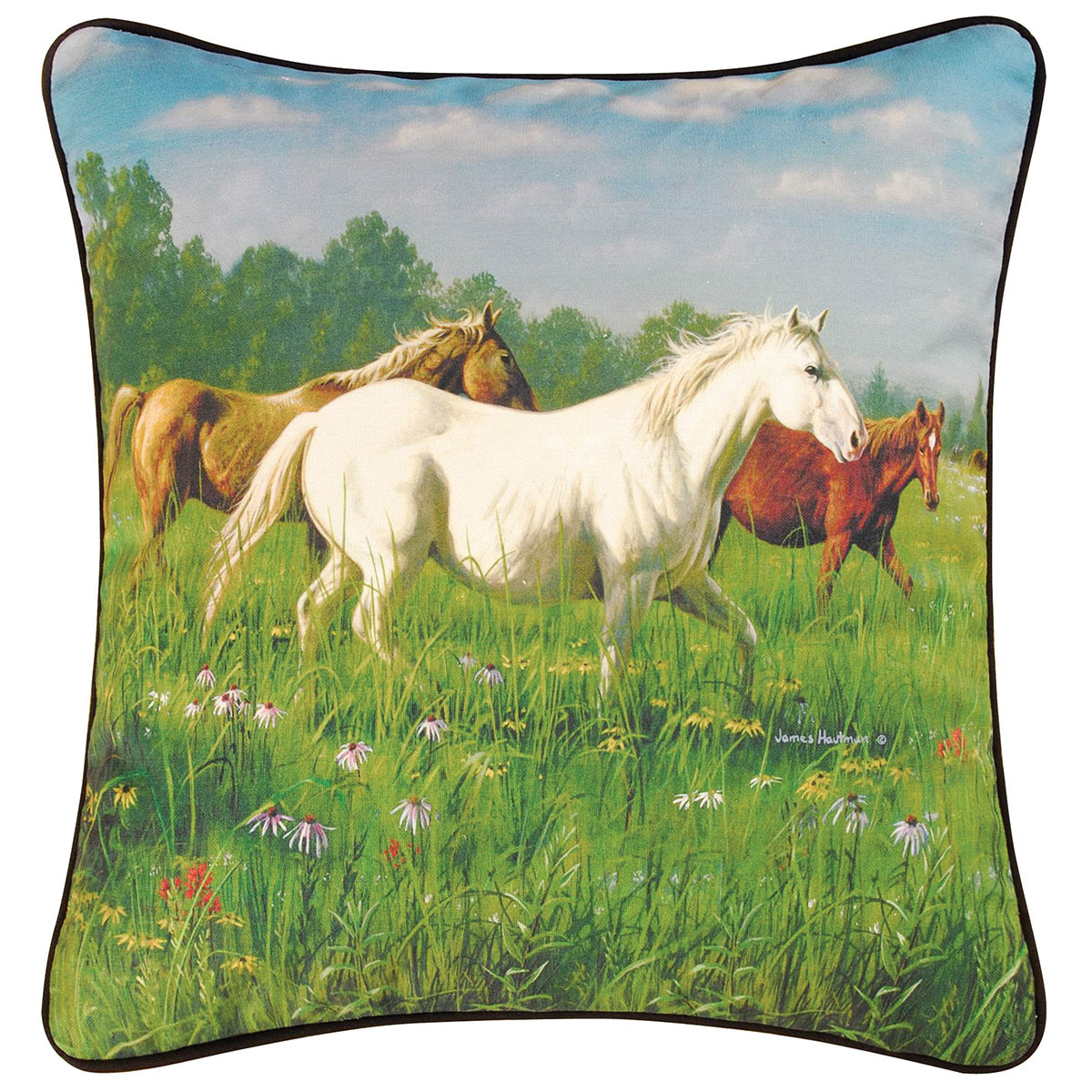 Meadow Horses HD Pillow