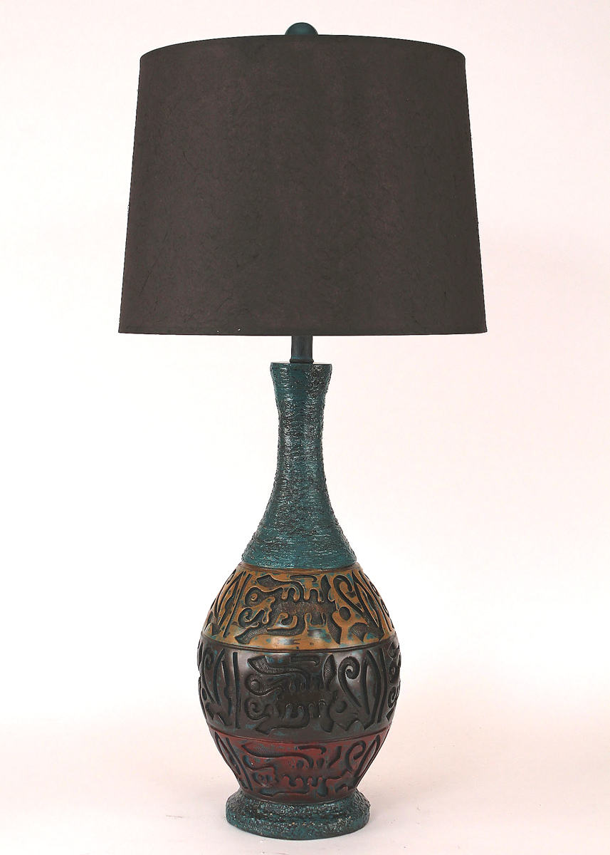 Mediterranean Pot Table Lamp