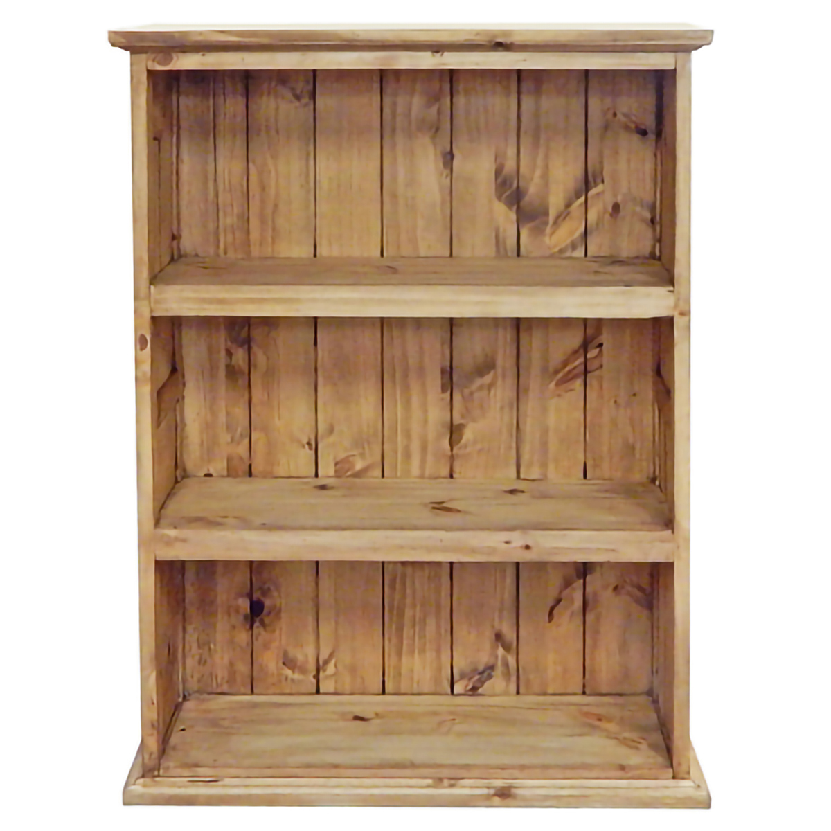 Medium Slatted Pine Bookcase