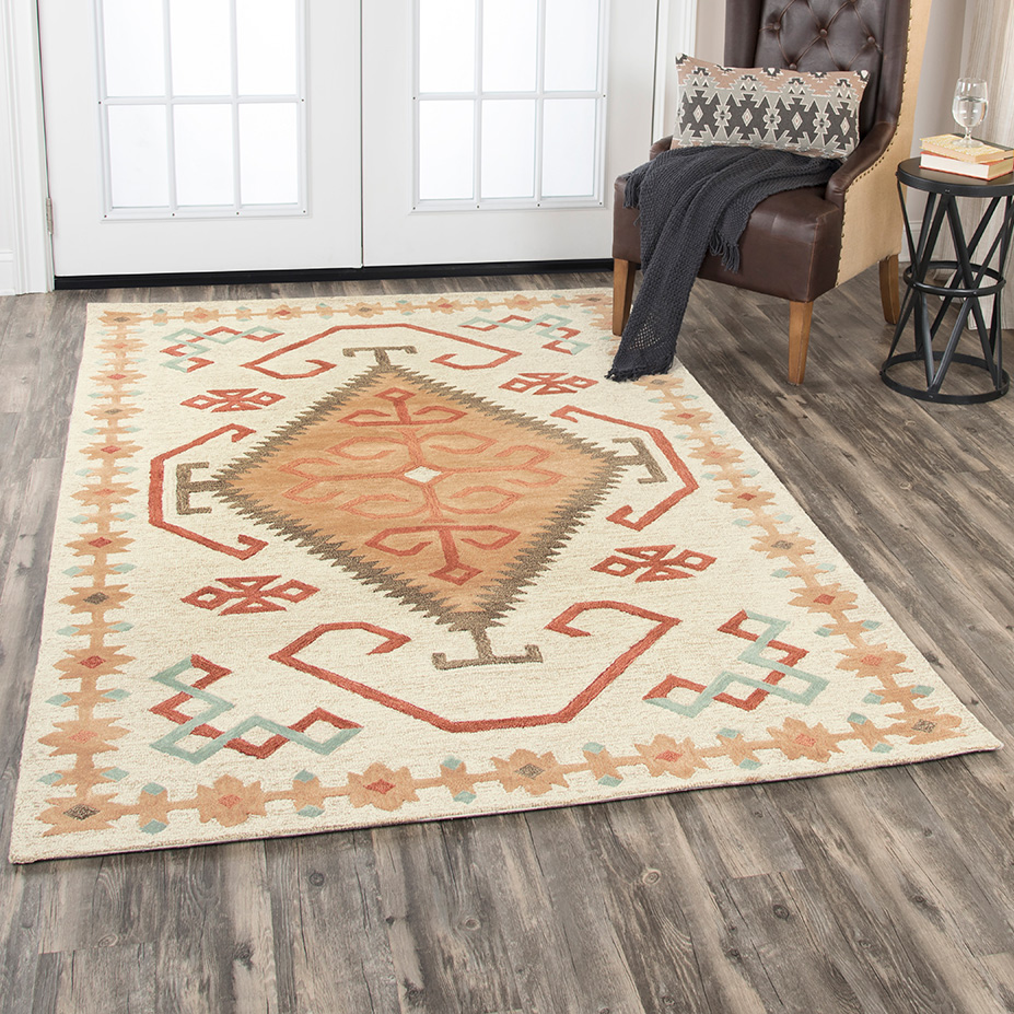 Mesa Tribal Cream Rug - 5 x 8