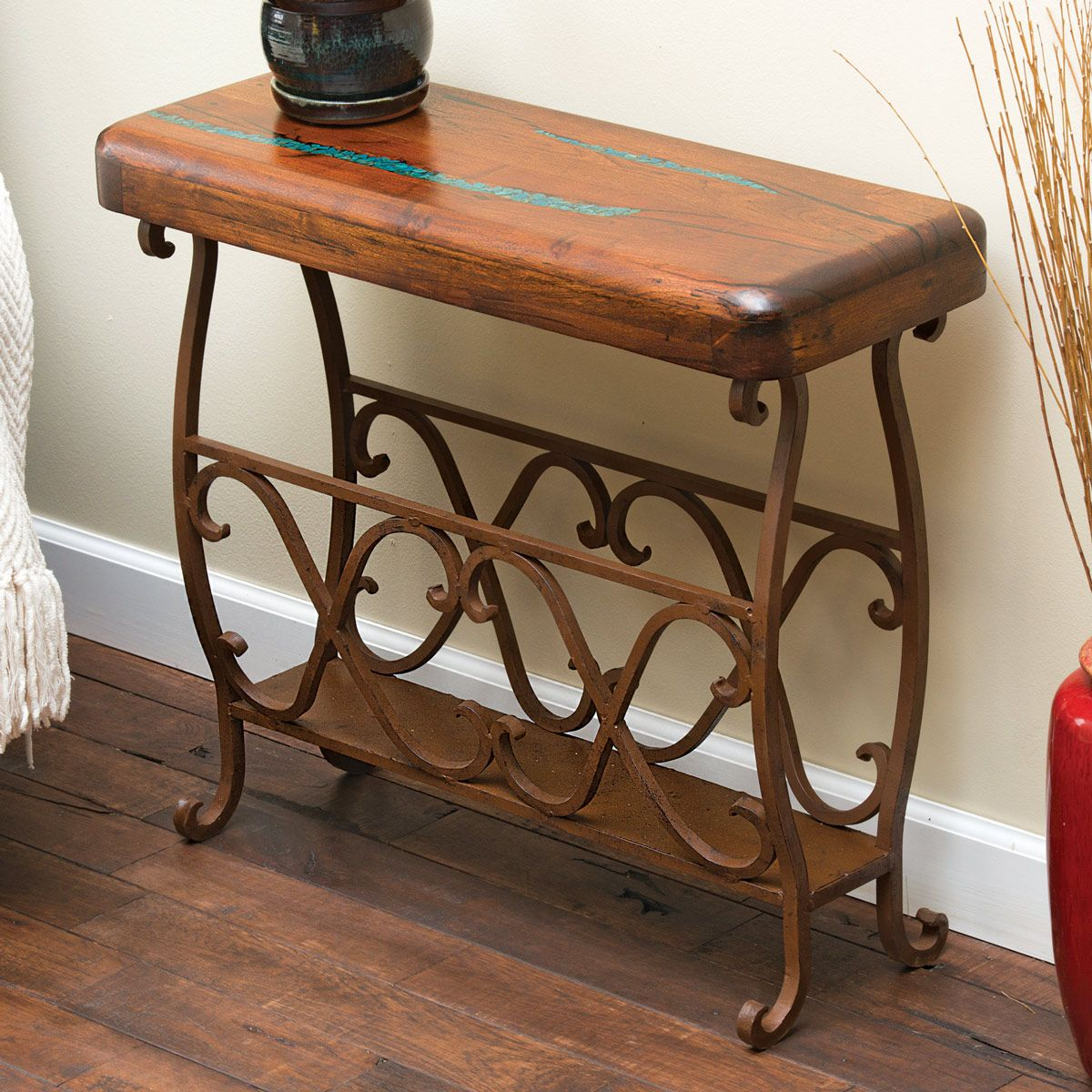 Mesquite Scrollwork Large Accent Table