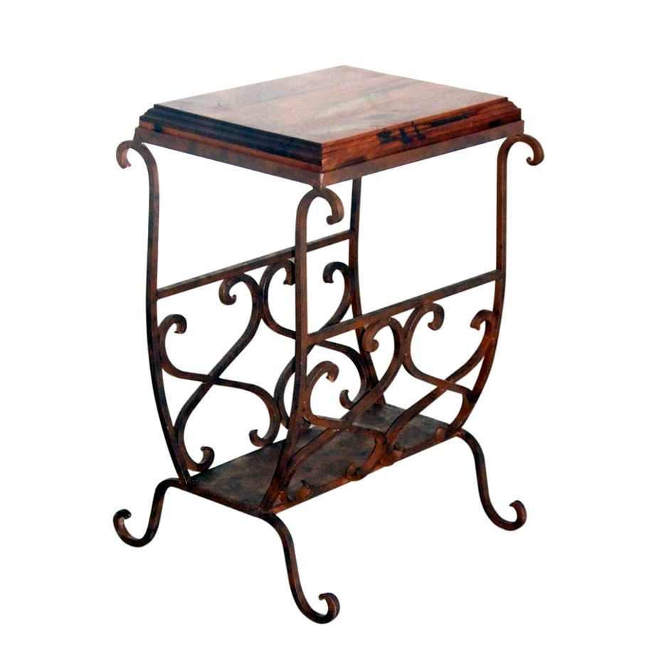 Mesquite Scrollwork Accent Table - Medium