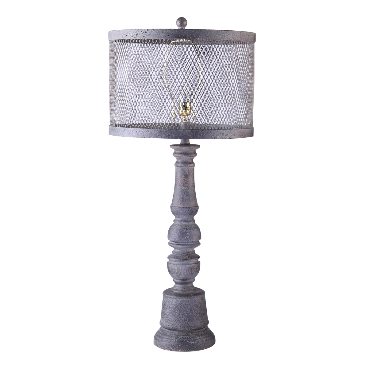 Metal and Mesh Table Lamp