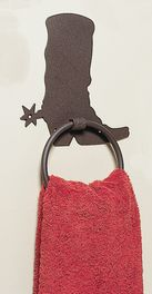 Metal Boot Towel Ring