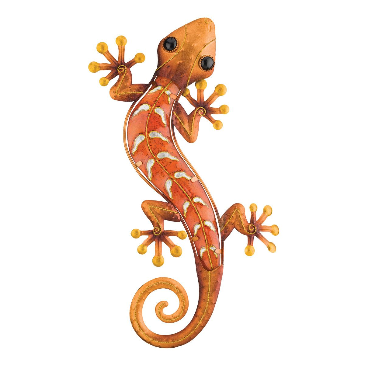 Metal Gecko Wall Art - Copper - OUT OF STOCK UNTIL 6/25/2021