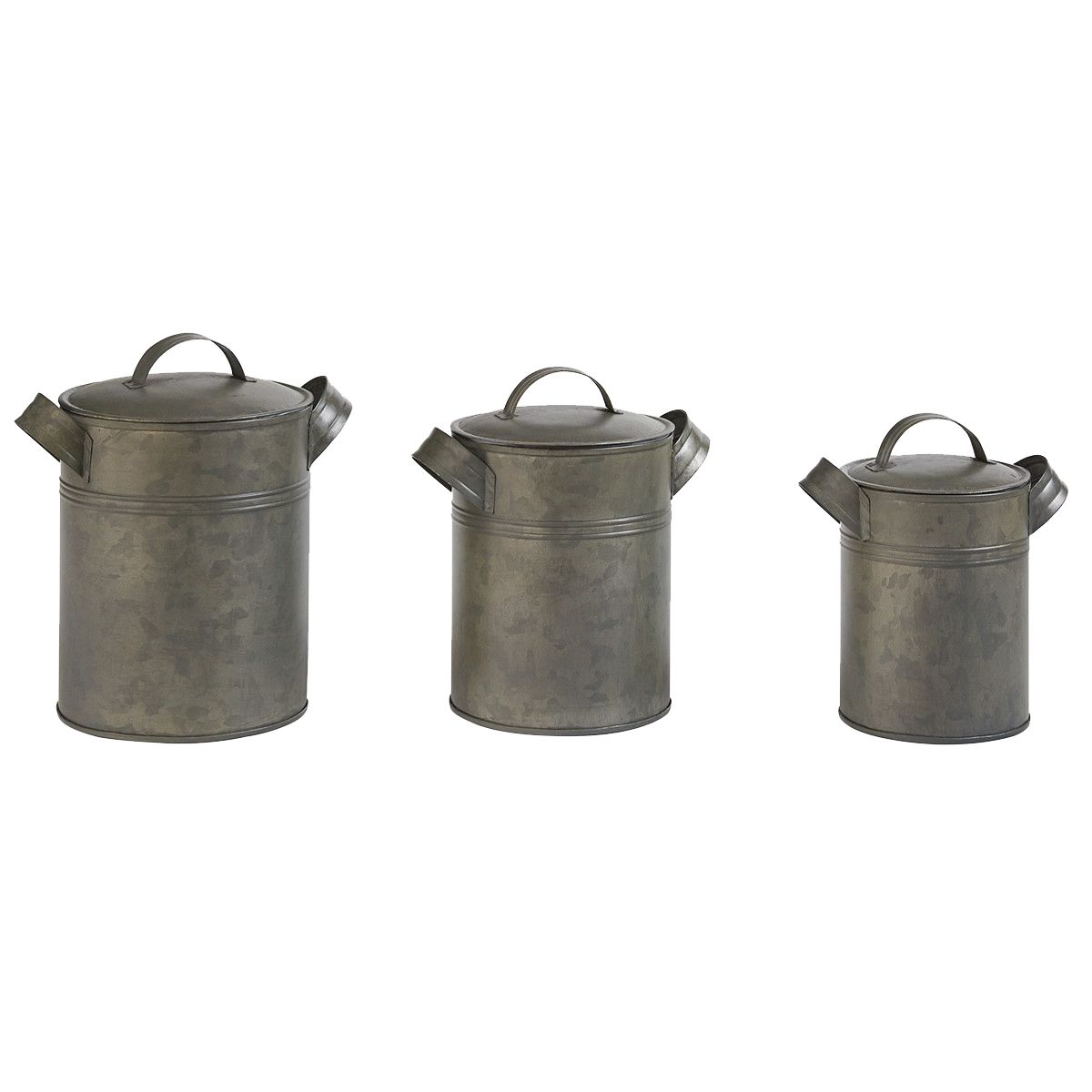 Metal Jug Canisters - Set of 3